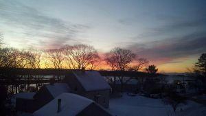 Sunrise over Cundy's Harbour, Maine, Dianne Carrick 31 Dec 2012